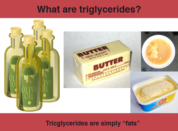 What are triglycerides? simply fats
